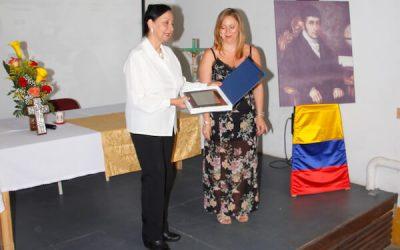 Evento entrega de placa por parte de la Alcaldía de Caldas de Reis en España